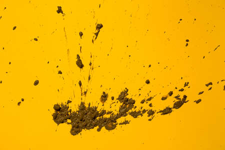 Texture clay moving in yellow background