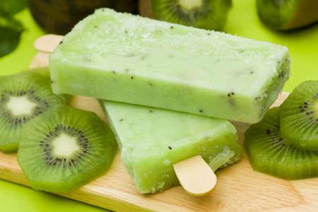 Stick ice cream kiwi flavor