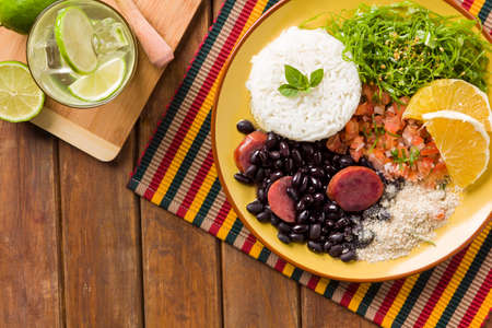 Feijoada, the Brazilian cuisine tradition with space for text