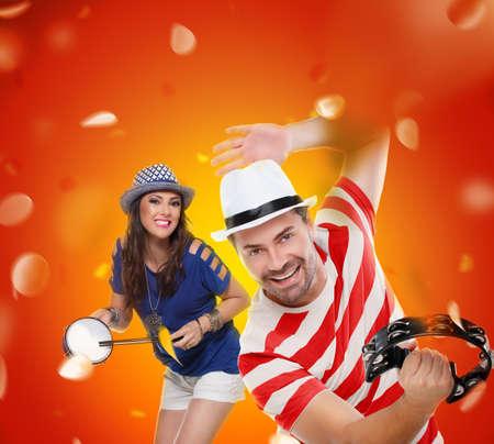 Profiter de la fête Carnaval Banque d'images - 49933292