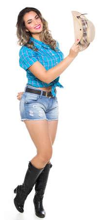 jerk: Girl dressed in traditional Brazilian Jerk. Stock Photo