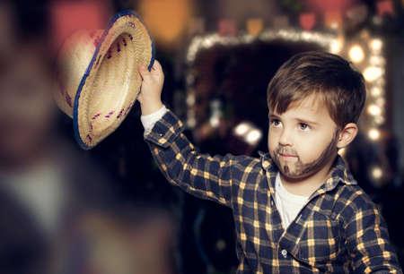 Boy for June festival Archivio Fotografico