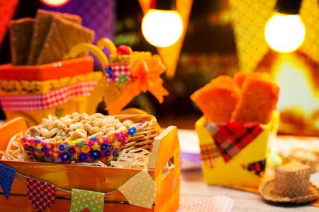 Bonbons délicieux pour le Junina Party Festa brésilienne Banque d'images - 57029536