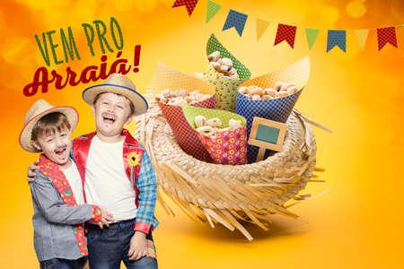 Bonbons délicieux pour le Junina Party Festa brésilienne Banque d'images - 57029565