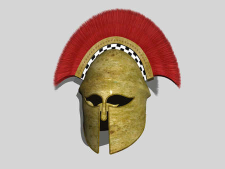 Isolated render of a Spartan Helmet Stock Photo