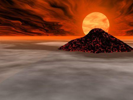 Volcanic alien island Stock Photo - 277138