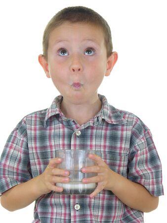 sip: Boy with a milk moustache