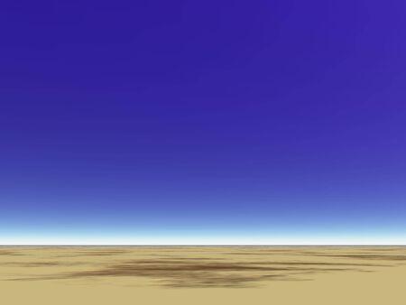 매우 푸른 사막의 하늘
