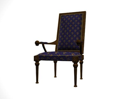 Isolated high back chair Stock fotó