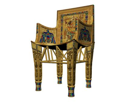 Isolated view of an ornate chair