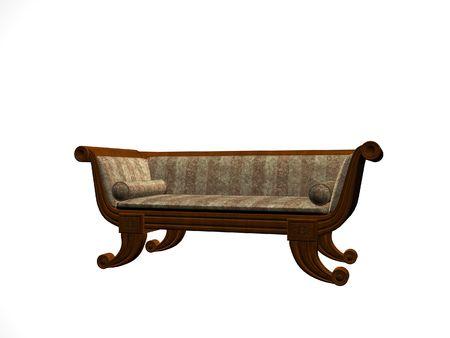 Isolated elegant chair Imagens