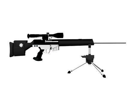 Hk automatic rifle isolated