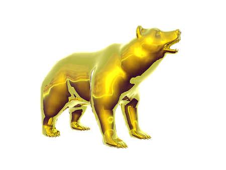 Isolated golden bear photo