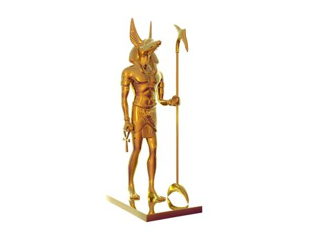dead dog: Statue of egyptian god anubis out of gold