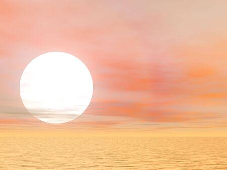 desert sun: Brilliant desert sun