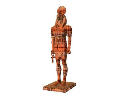 horus: Estatua del dios egipcio Horus Foto de archivo