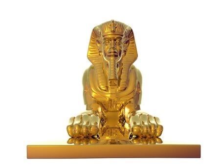 Isolated golden sphinx statue photo