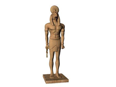 horus: Estatua de Dios egipcio Horus