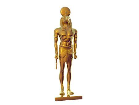 Estatua del dios egipcio Horus Foto de archivo - 290837