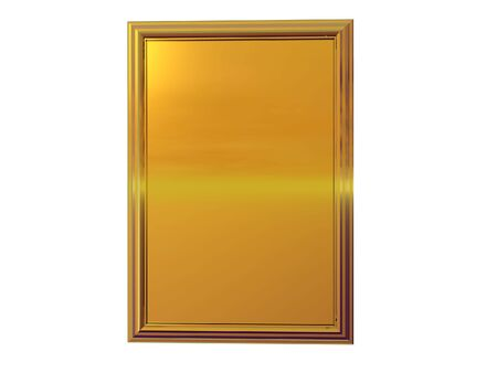 Isolated gold plaque Stock Photo