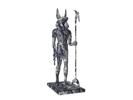 Statue of egyptian god anubis
