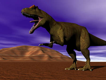 strolling: Dinosaur allosaurus strolling Stock Photo
