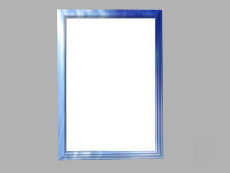 Isolated blue marble frame