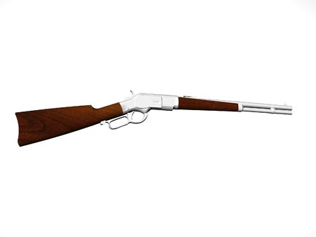 lever: Lever action carbine rifle Stock Photo