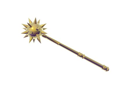 weighted: Isolated golden mace