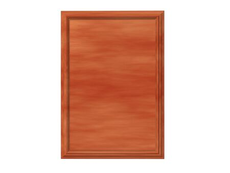 Isolated cedar plaque