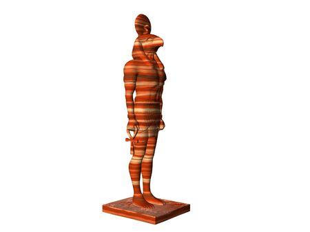 Estatua de Dios egipcio Horus  Foto de archivo - 290764