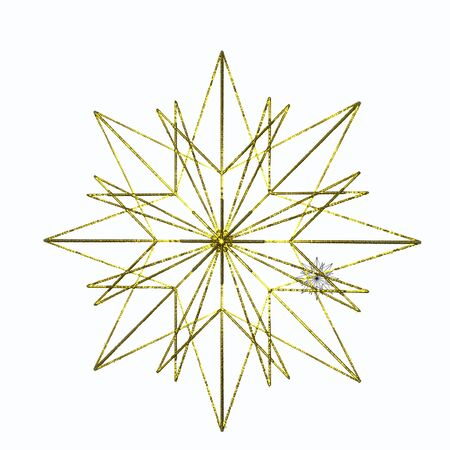 Isolated gold star