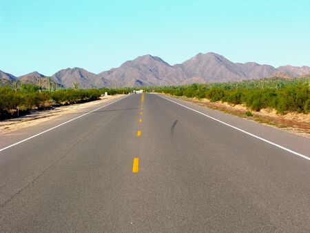 emptiness: Road in the desert