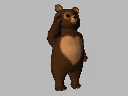 rendered: Cartoon rendered teddy bear