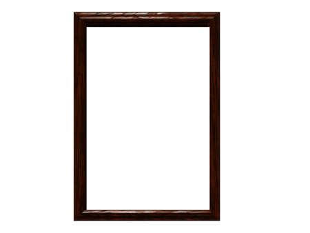 Blank & isolated walnut frame