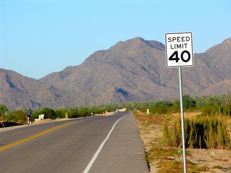 route desert: Desert route avec jogger