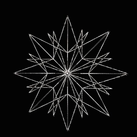Isolated silver star