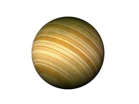 Isolated Jupiter type planet photo