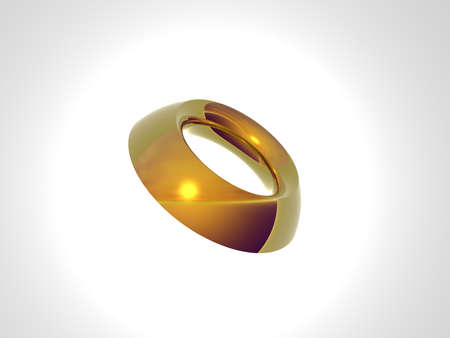 Isolated gold ring Stock Photo