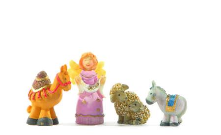 Isolated angel and animal figures Zdjęcie Seryjne