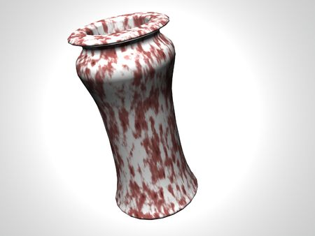 Isolated red marble vase Imagens