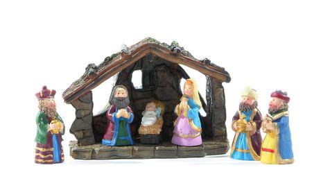 Isolated nativity scene Zdjęcie Seryjne