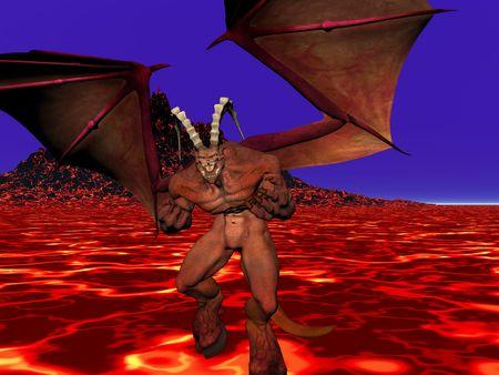 hellfire: Demon in hellfire