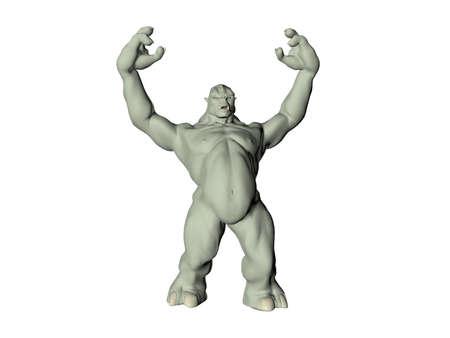 englishman: Isolated green troll