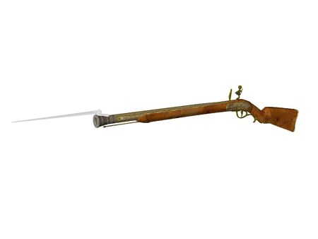 flintlock: Isolated flintlock rifle
