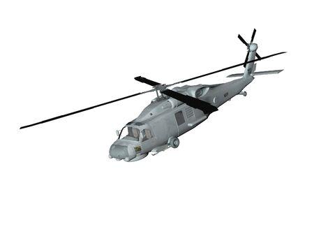 blackhawk helicopter: Isolated blackhawk style helicopter Stock Photo
