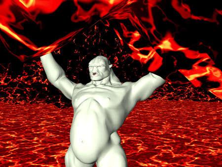 englishman: Troll in a magma cavern
