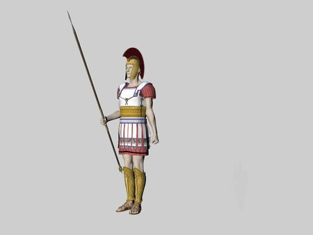 Isolated greek guard
