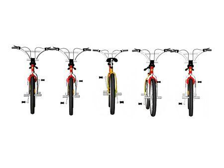흰색 자전거