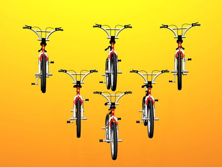 robustness: Isolated Bicycles Stock Photo